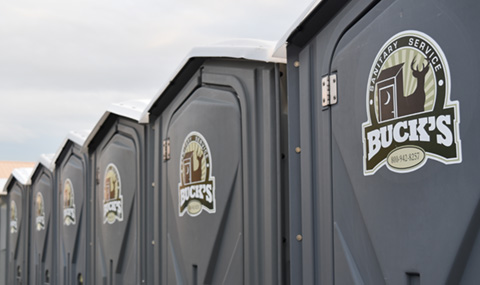 Portable restrooms for large crowds