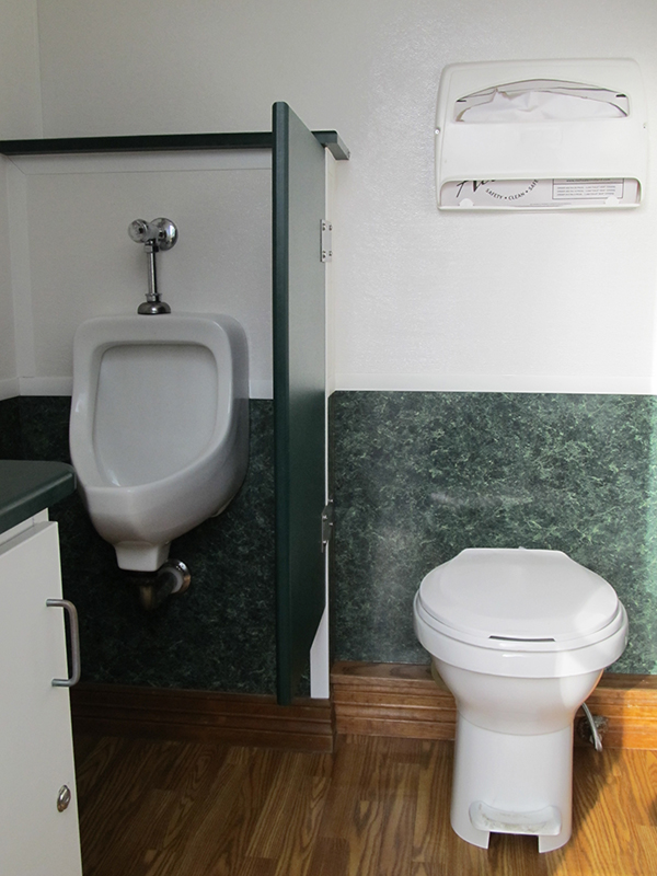 Comfort Station - Interior, with toilet and urinal
