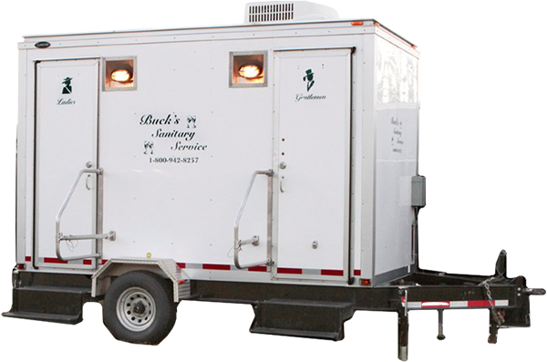 Comfort Station on a trailer