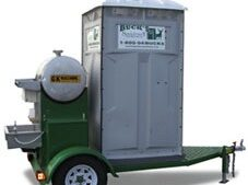 Portable Restroom on a Trailer