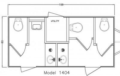 Rancher Restroom Floorplan