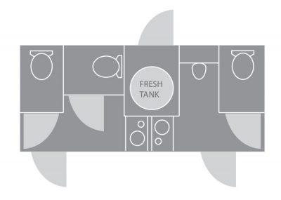 The Ritz Bathroom Floorplan