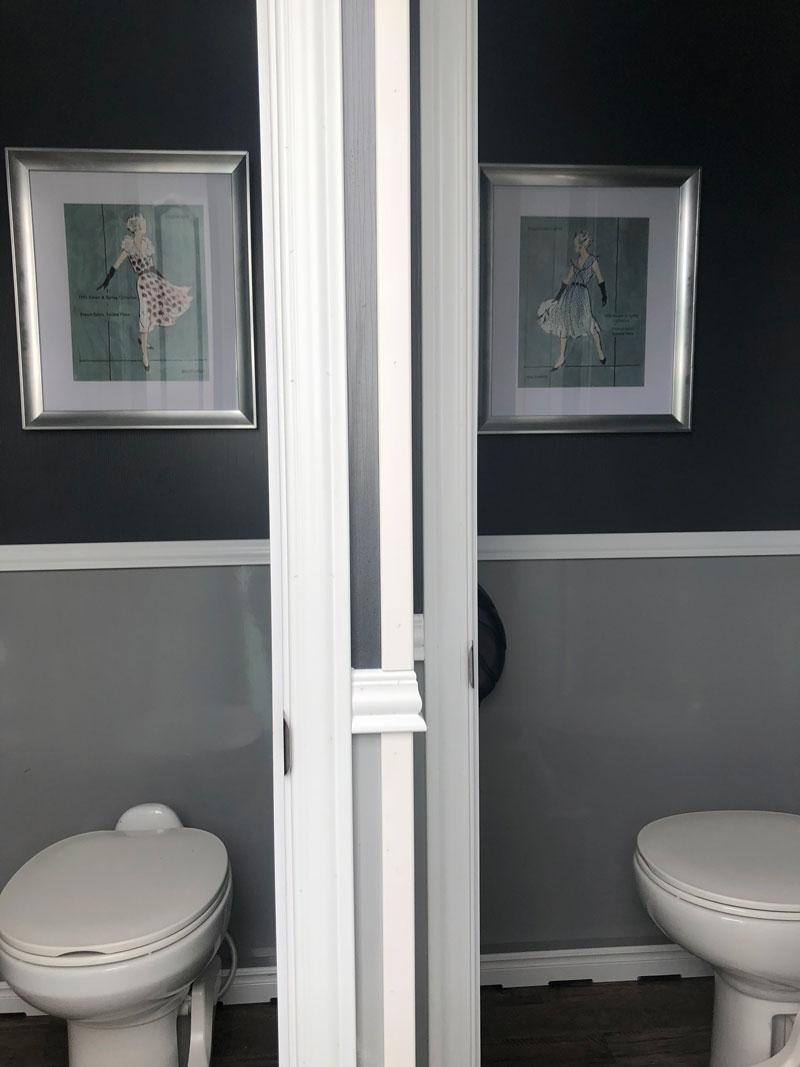 Portable restroom stalls - interior