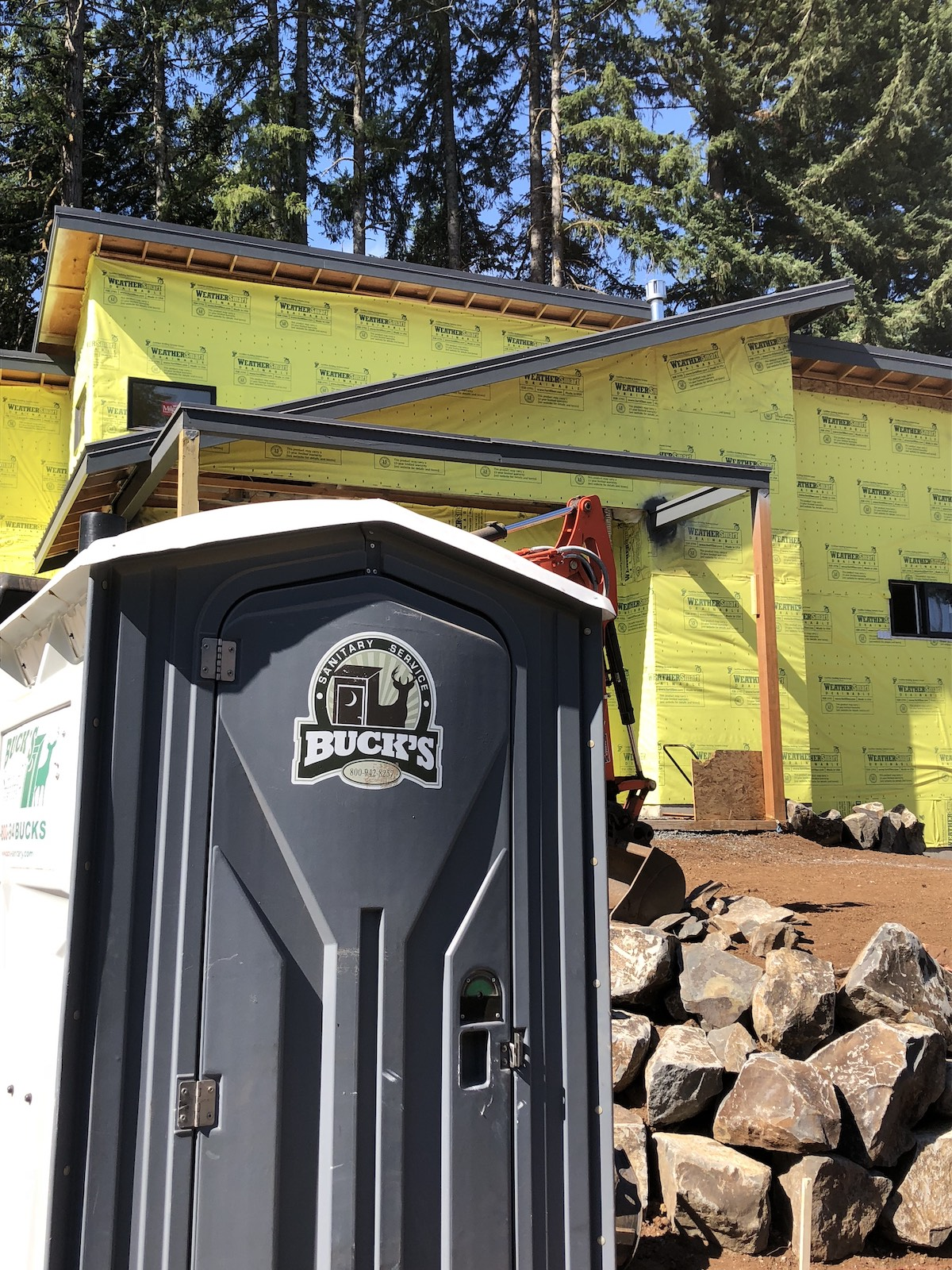 Porta potty for construction site