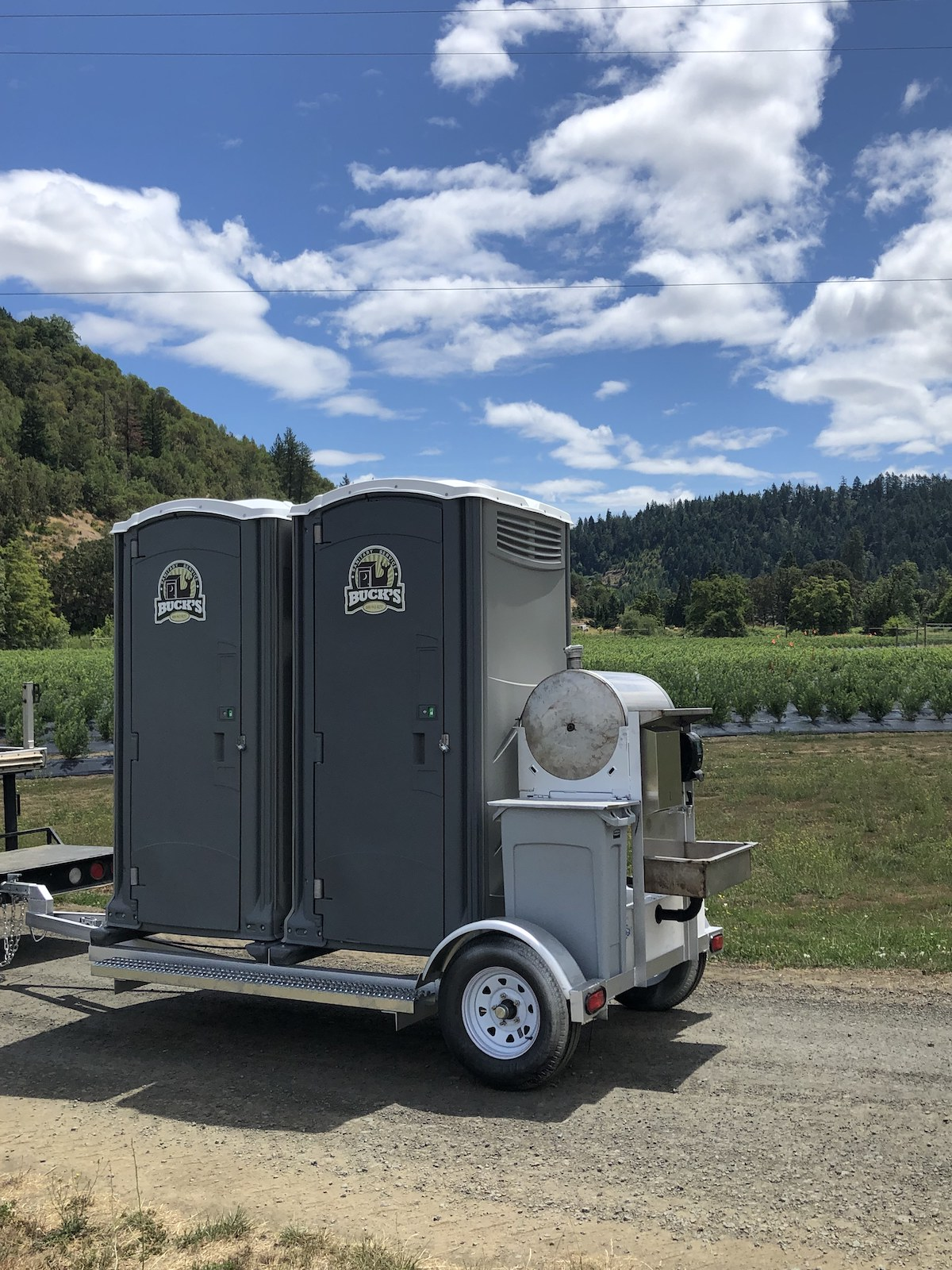 Portable toilets and sink