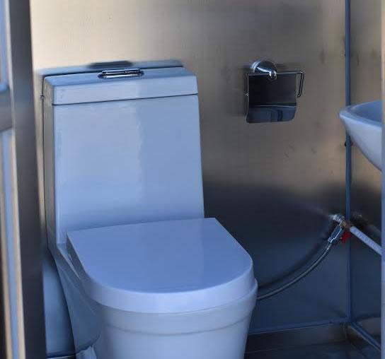 Flushing construction unit
